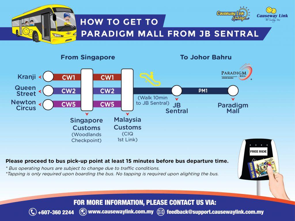 Travel Bus Pass to Paradigm Mall